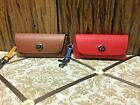 coach Sunglass Case In Colorblock Qb/Redwood Tumeric,Qb,/Miami Red Blue Jay
