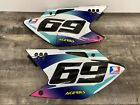 2006 2007 KAWASAKI KX250F LEFT RIGHT SHROUDS REAR BACK SIDE NUMBER PLATE FAIRING