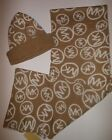 NWT MICHAEL KORS 2pc WOMENS SCARF  HAT SET  MK LOGO BEANIE ONE SIZE CAMEL CREAM