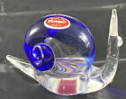 Near FLAWLESS Stunning MURANO Glass Cobalt Blue Crystal SNAIL Sculpture Figurine