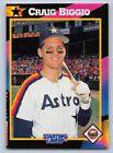 1992  CRAIG BIGGIO - Kenner Starting Lineup Baseball Card - HOUSTON ASTROS