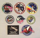 NASA PATCHES LOT of 8 Space Program  Shuttle STS Missions Skylab Spacelab ++++