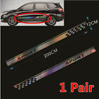 1 Pair Colorful Laser Reflective Graphics Long Stripe Sticker For Car Side Body