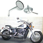Chrome Round Motorcycle Rearview Side Mirrors 10mm For Honda Shadow Classic 400