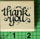 Thank You rubber stamp by Hooks Lines  Inkers 1993