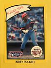 1989 Kenner Starting Lineup Kirby Puckett Rookie Year 1984 Card