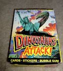 1988 Topps Dinosaurs Attack Wax Box 48 packs! X-out (NS8,24,43)