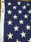 US American Flag 50 Sewn Stars  Stripes Valley Forge ALL Cotton Bunting 3 x 5