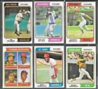 1974 Topps Baseball Cards Rookie HOF  Star Players Special Cards You Choose