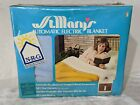Vintage St Mary's Automatic Electric Blanket Queen Size 84X90 Blue, 2 controls !