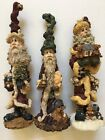 Lot 3 Boyd's Bears Folkstone Collection Santa Figures w/Original Boxes Christmas