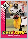 1993  BARRY FOSTER - Kenner Starting Lineup Card - PITTSBURGH STEELERS - (PINK)