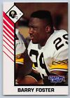 1993  BARRY FOSTER - Kenner Starting Lineup Card - PITTSBURGH STEELERS - (WHITE)