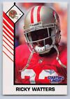 1993  RICKY WATTERS - Kenner Starting Lineup Card - SAN FRANCISCO 49ers (White)