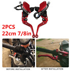 1 Pair 22cm Motorcycle Handlebar Master Cylinder Hydraulic Brake Clutch Levers