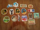 16 travel related Stickers 2 4