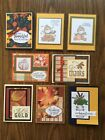 8 handmade Fall cards made with Stampin Up and more Envelopes are included