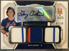 GARY CARTER 2012 TOPPS MUSEUM COLLECTION TRIPLE JERSEY RELIC PATCH AUTO 02 59