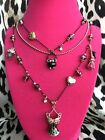 Betsey Johnson Enchanted Forest Corset Witch Broom Scaredy Cat Cauldron Necklace