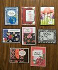 8 handmade thinking of you type of cards with envelopesStampin Up and more