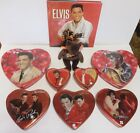 Elvis Presley collection lot of 7 candy tins book and beanie baby