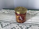 Antique MOSER MARY GREGORY Cranberry Glass Jar With Polished Brass Lid