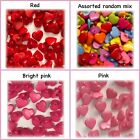 25 Heart shank buttons red pink yellow blue purple 14mm 2 5 hearts plastic