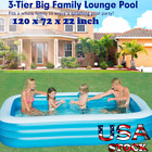 12072 Inflatable Pool Blow Up Family Full Sized Pool for Kids Toddlers Infant