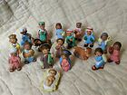 Vintage Terracotta Miniature Nativity Set Handpainted