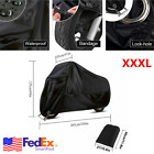 Black 3XL Scooter Moped Nylon Cover Durable Outdoor Protector Motorcycle US 1Pcs