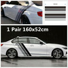 2Pcs Tricolor Lines Customized Vinyl Decal Stripes Sticker For Car Side Body