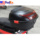 US Matte Black Scooter Moped Top Box Tail Luggage Storage Case Clip w Lock Kits