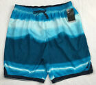 NIKE Mens Swim Trunks 3XL Blue Gray Abstract New 74 Surf Beach Wear NICE