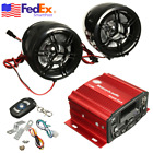 Motorcycle Moped Audio Speaker Amplifier System MP3 USB AUX Radio Waterproof USA