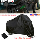 Durable Black XXXL Scooter Moped Bike Cover 190T Outdoor Sun Rain Protector USA