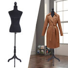 Black Female Mannequin Torso Dress Clothing Form Display w Tripod Stand