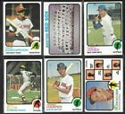 1973 Topps Baseball Cards 500 to 660 You Choose Volume  Shipping Discounts