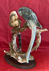 Vintage Signed Giuseppe Armani Pair of Budgie Parrots Figurine Made in Italy 11