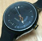 Tommy Hilfiger Men 50m All Black Steel Analog Quartz Watch Hour~Date~New Battery