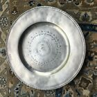 Large Engraved Round Platter by Match Pewter Made In Italy