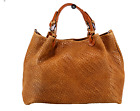 NWT ITALIAN GENUINE LEATHER WEAVE STYLE SATCHEL BAG HANDBAG  MADE IN ITALY