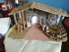 Classics Nativity Creche Stable Barn Creche RARE Big