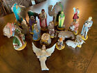 VINTAGE 1970s HOLLAND MOLD CHRISTMAS NATIVITY SET 18 PIECES