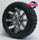 GOLF CART 14 TEMPEST WHEELS RIMS and 22 GATOR ALL TERRAIN TIRES DOT RATED