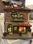 Jo Anns Fabric Holiday Christmas Village Westside Barber Shop 2010 Like Lemax