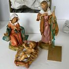 The Fontanini Heirloom Nativity 5 Collection Holy Family 3 Piece Set NOS 1992