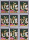 (9) 1981-82 Topps Magic Johnson #21 2nd Year Cards All Excellent-NM+ Lakers