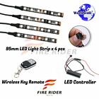 For King Quad 400 4 Pcs RGB Light Strips 95mm Bendable Fairing Frame Design