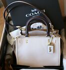 AUTHENTIC COACH ROGUE BAG 25 CHALK WHITE LEATHER 54536 BRAND NEW COACH HANDBAG