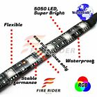 For 701 Supermoto 4Pcs RGB Light Strips 145mm Bendable Fairing Frame Design